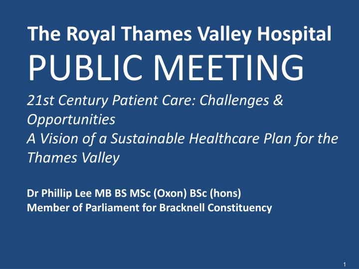 the royal thames valley hospital n.