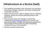 infrastructure as a service iaas