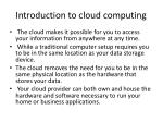 introduction to cloud computing1
