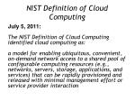 nist definition of cloud computing