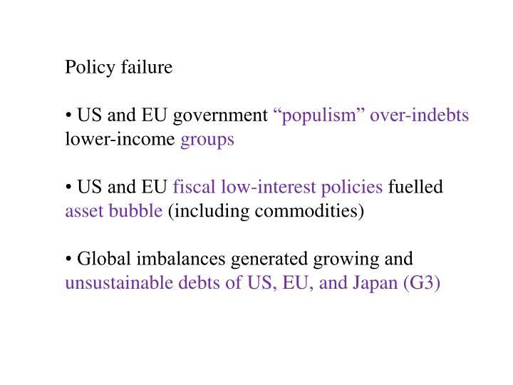 Policy failure