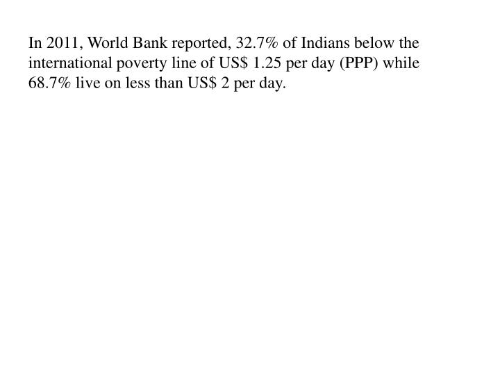 In 2011, World Bank