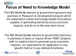 focus of need to knowledge model