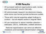 kvm results