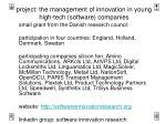 project the management of innovation in young high tech software companies