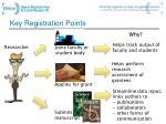 key registration points