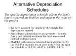 alternative depreciation schedules