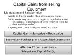 capital gains from selling equipment