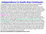 independence in south asia continued1