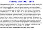 iran iraq war 1980 1988