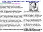 silent spring did it help or hurt developing nations