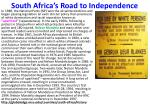 south africa s road to independence