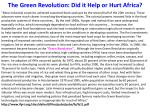 the green revolution did it help or hurt africa