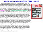 the iran contra affair 1986 1987