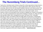 the nuremberg trials continued