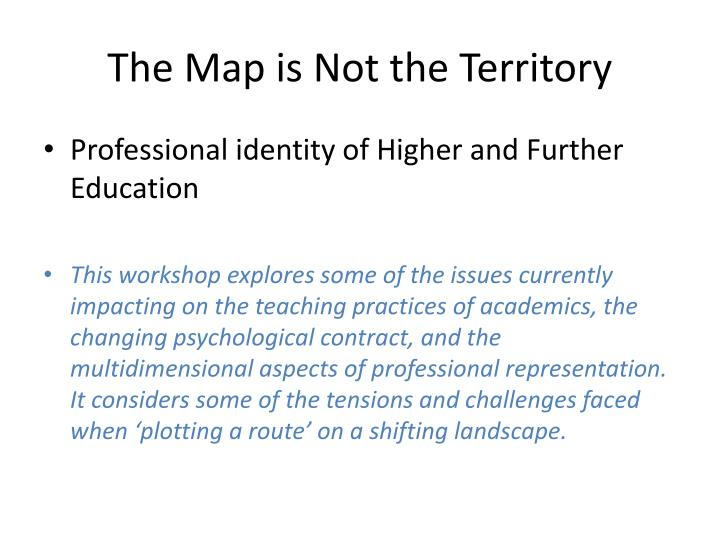 the map is not the territory n.