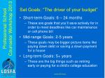 set goals the driver of your budget