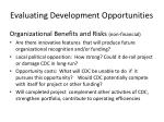 evaluating development opportunities2