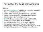paying for the feasibility analysis