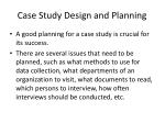 case study design and planning