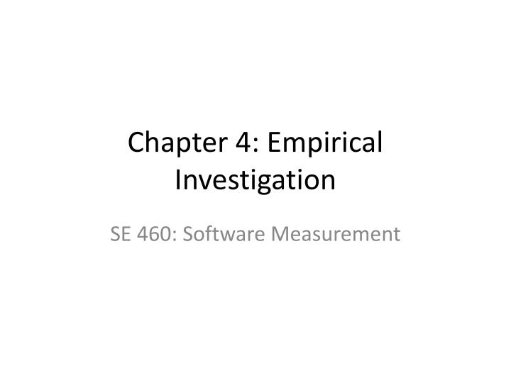 chapter 4 empirical investigation n.