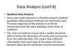 data analysis cont d