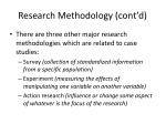 research methodology cont d
