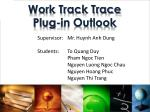 work track trace plug in outlook