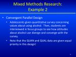 mixed methods research example 21