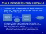 mixed methods research example 3