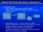 mixed methods research example 4
