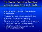 the effective provision of preschool education study sylva et al 2008