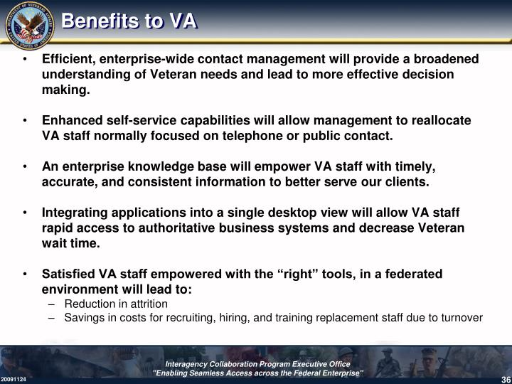 Benefits to VA