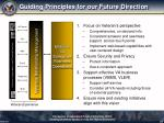 guiding principles for our future direction