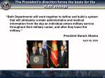 the president s direction forms the basis for the vler strategy