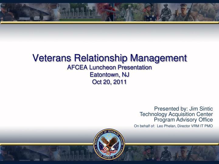 Veterans Relationship Management