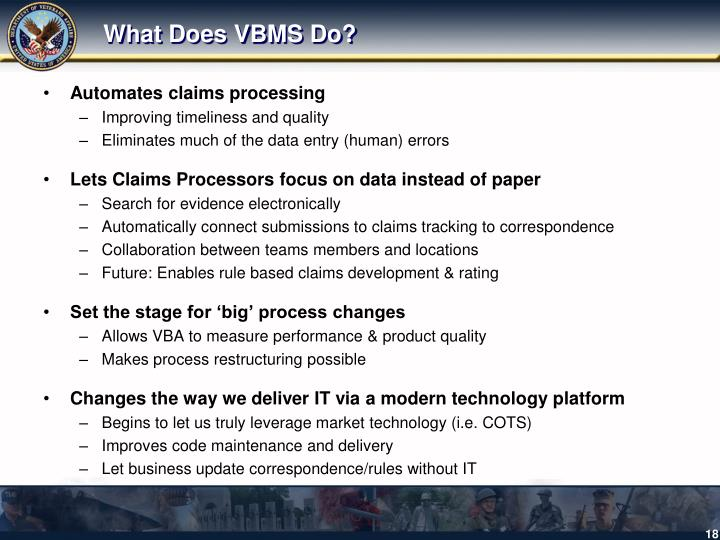 What Does VBMS Do?