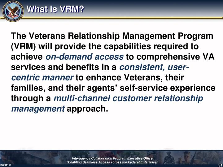 What is VRM?
