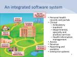 an integrated software system
