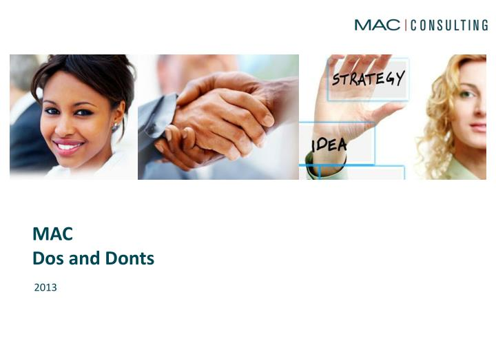 mac dos and donts n.