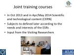 joint training courses