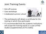 joint training events