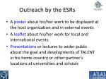 outreach by the esrs