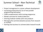 summer school non technical content