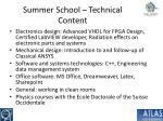 summer school technical content