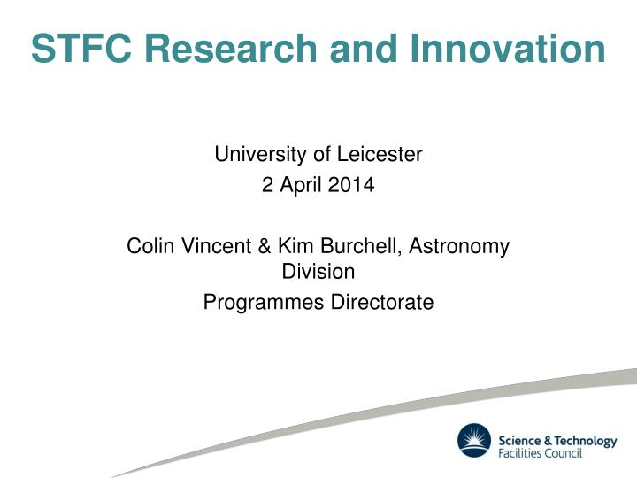 stfc research and innovation n.