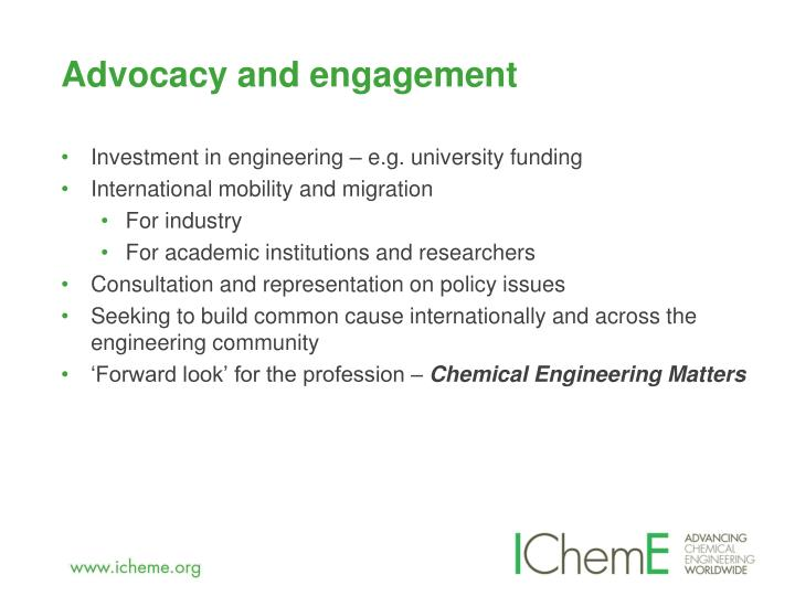 Advocacy and engagement