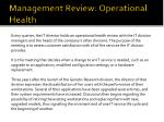 management review operational health