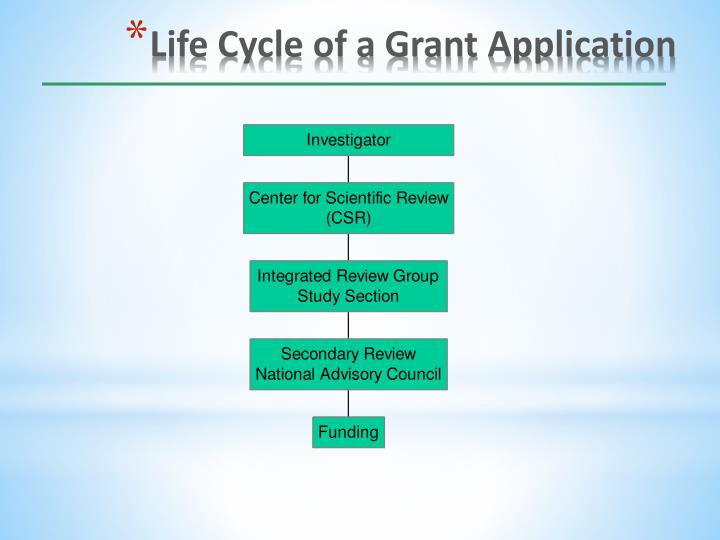 Life Cycle of a Grant Application