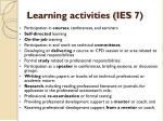 learning activities ies 7